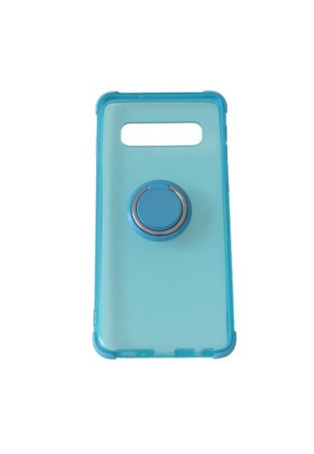 MobileHub blue Samsung S10 Silicone Clear Case with X-Ring E0246AC4E88B8EGS_1