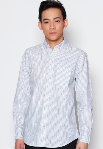 Dockers blue Dockers Long Sleeve Premium Poplin Shirt Leopold Delft BAB9CAA01D6551GS_1