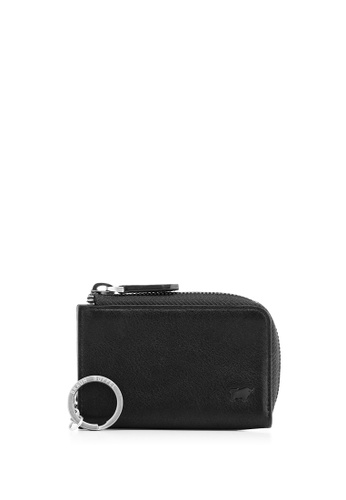 Braun Buffel black Raznor Coin Holder with Key Ring CE05CAC1A13343GS_1