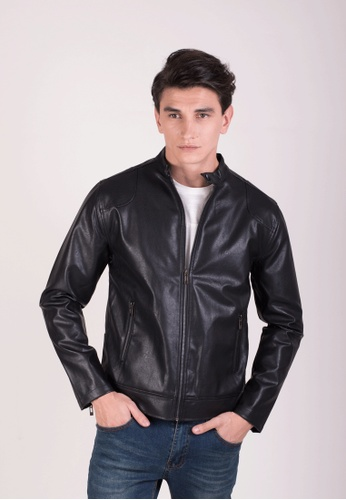 Drum black Faux Leather Jacket 97F12AA698979AGS_1