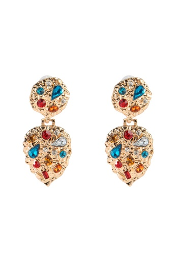 Red's Revenge blue Rhinestone Abstract Dangle Earrings 2E987ACEB968FCGS_1