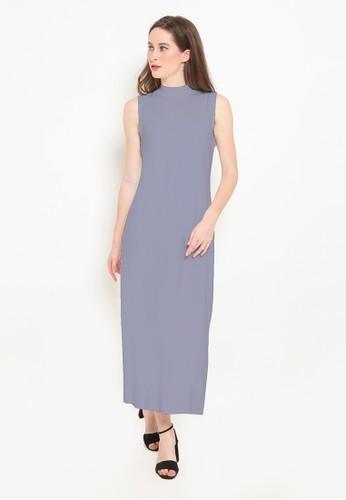 BASIC ONE blue Basic One Jeddah Long Dress Jasmin Blue Grey 1CEDBAAD19631AGS_1