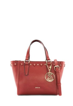 SEMBONIA  SEMBONIA Synthetic Leather Tote Bag (Red)