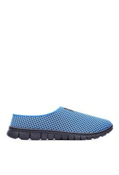 Sport 圈圈透氣網布 太空懶人拖鞋-09610-藍色