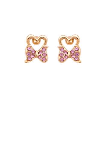 Glamorousky purple Lovely Ribbon Earrings with Purple Austrian Element Crystal 5D6DBAC1A0A7D5GS_1