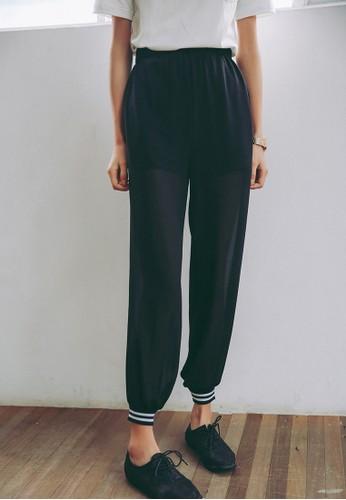 條紋邊飾束腳長褲, 服飾, 長褲及esprit童裝門市內搭褲