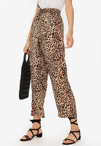282ea715e2bd Buy TOPSHOP Petite Leopard Print Trousers Online on ZALORA Singapore