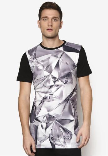 鑽石紋理印花 esprit tsim sha tsuiTEE, 服飾, T恤