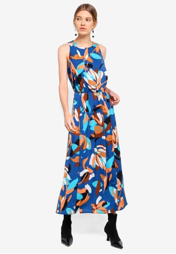ESPRIT blue and multi Light Woven Long Dress FA025AA8832BF9GS_1