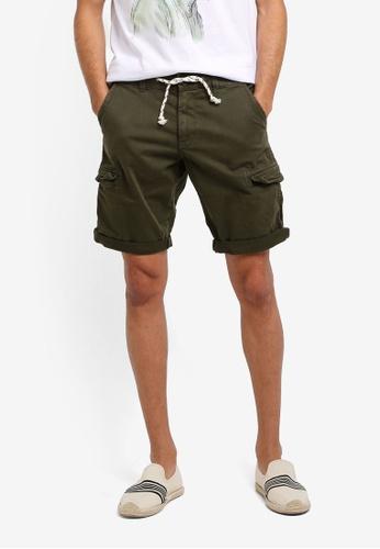 ESPRIT 綠色 Woven Regular Shorts 09326AA913823AGS_1