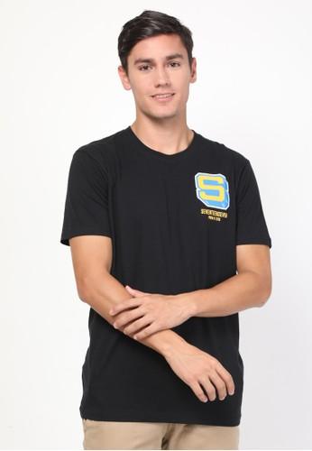 17seven Original black Tshirt 0024-CAPITAL-MU A81B1AA5930476GS_1