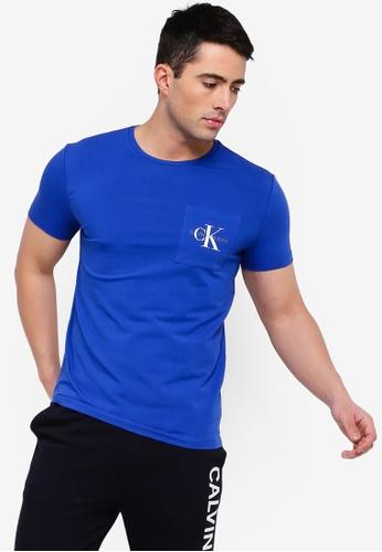 1525d44aae9f Calvin Klein blue Monogram Pocket Slim SS Tee - Calvin Klein Jeans  9F877AA3ABB24DGS_1