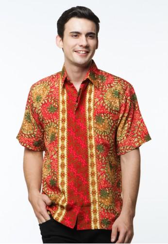 Waskito Hem Batik Semi Sutera - HB 10566 - Red