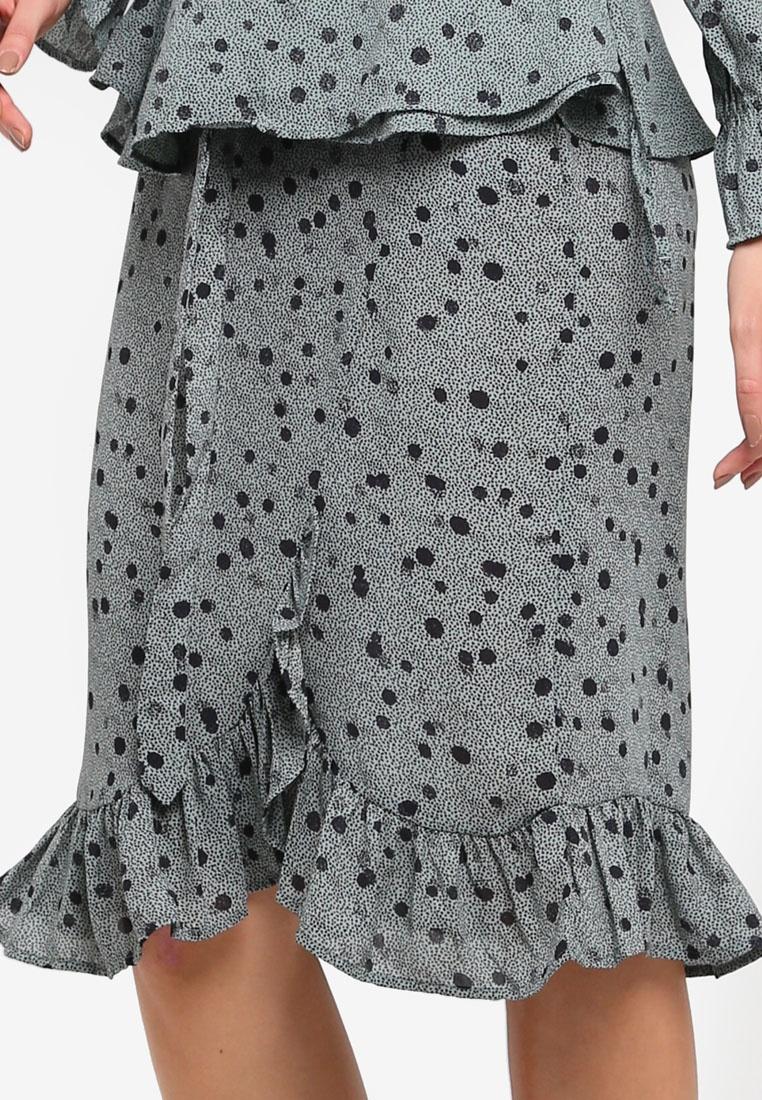 Chinois Black Moda Skirt Green Wrap Ga Vero Vmciao XH8qwzxx4