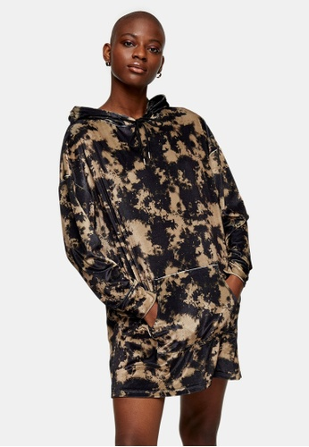 TOPSHOP multi Velvet Tie Dye Sweatshirt Dress 5D434AA9A27EDAGS_1