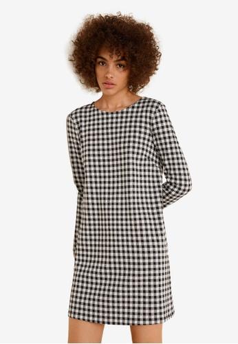 Mango black Vichy Check Dress 74F32AA02131EFGS_1