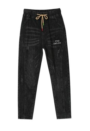 Its Me black Elastic Waist Black Jeans F8A97AAE000340GS_1