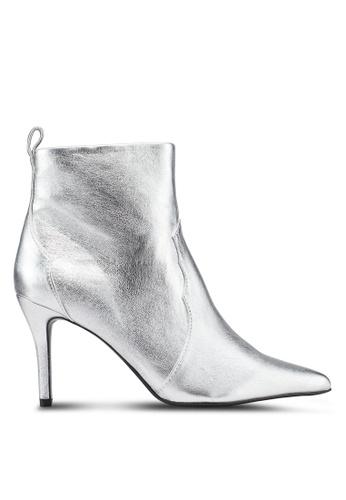Mango 銀色 金屬感高跟踝靴 A1054SH14118E0GS_1