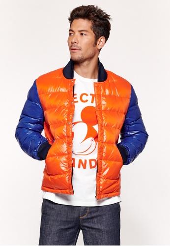 United Colors of Benetton orange Slim Fit Short Padded Jacket BC17DAA1E044D7GS_1