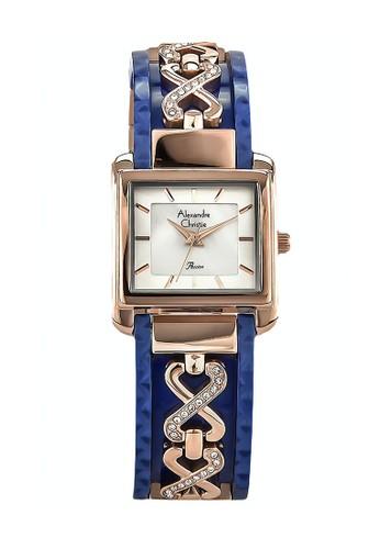 Alexandre Christie blue Alexandre Christie Jam Tangan Wanita - Rosegold Blue - Stainless Steel - 2611 LHBRGMSBU 354C1AC4B4EE86GS_1