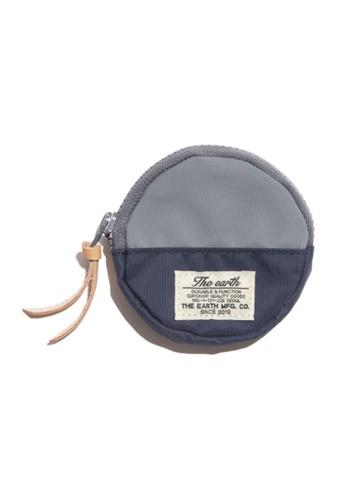 The Earth grey CB COIN WALLET - Grey/Navy TH763AC50WTXHK_1