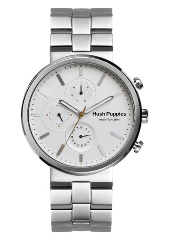 Hush Puppies Orbz Men's Watch HP 7141M.1501 White Silver Stainless Steel