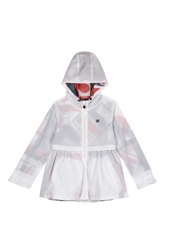 FILA white FILA KIDS Subtle F-box Logo Hooded Jacket 8-15yrs 003EAKA39908BEGS_1