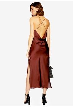 5a080e1d13 TOPSHOP brown Plain Satin Slip Dress 2F15DAAB24209DGS 1