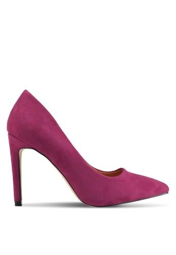 Public Desire purple Avedon Faux Suede Court Heels 633EESHE614A97GS_1