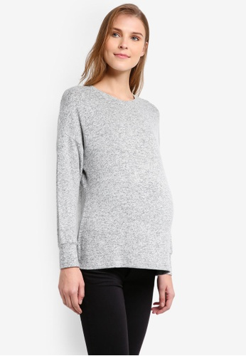 TOPSHOP grey Maternity Super Soft Sweatshirt TO412AA0T0VIMY_1