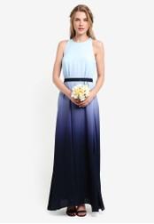 ZALORA navy Bridesmaid Ombre Maxi Dress 7FEC2AA1A3F1F3GS_1
