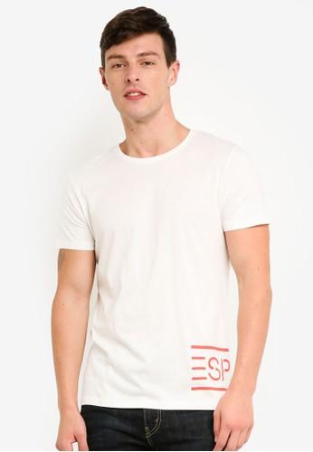 ESPRIT white and multi Short Sleeve T-Shirt E441BAA1B11B21GS_1