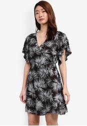 ZALORA black Wrap Front Dress 5D397AA1B0C21CGS_1