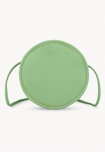 Pomelo green Round Crossbody Bag - Green E2F4FAC27F5AF5GS_1