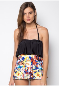 Floral Dress One Piece Swimwear