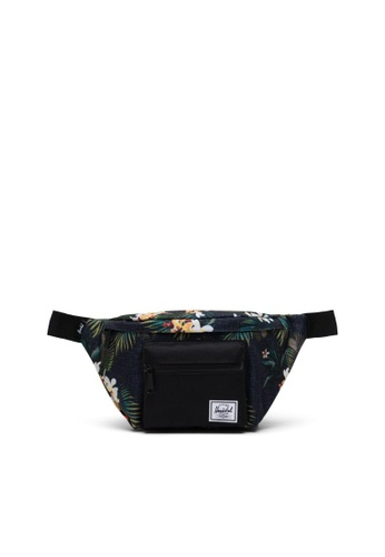 Herschel black and multi Herschel Unisex Seventeen Hip Pack Hawaiian Floral - 3.5L 233B8AC12FC559GS_1