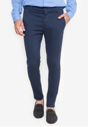 Topman navy Stretch Skinny Chinos TO100AA88SKLPH_1