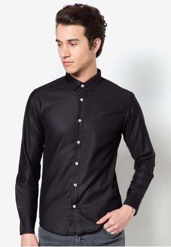混棉長袖襯衫esprit暢貨中心, 服飾, 服飾