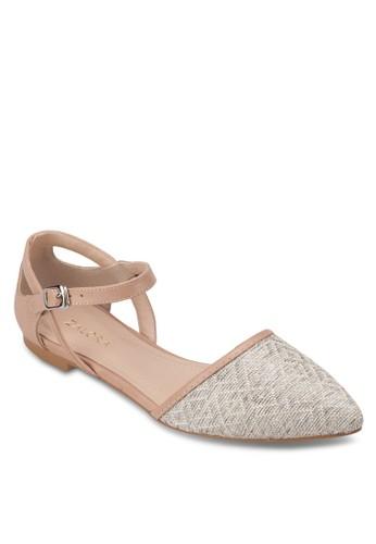異材質側鏤空尖頭平底鞋, 女鞋zalora鞋子評價, 鞋