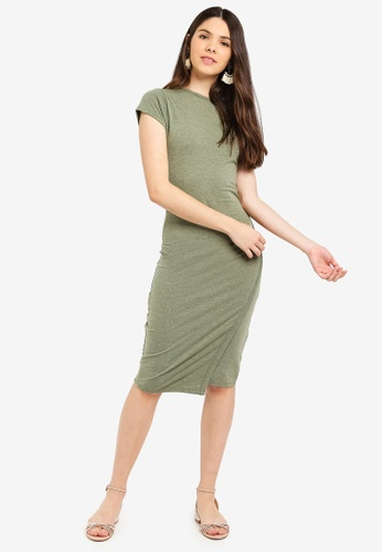 Cotton On green Anthea Short Sleeve Midi Dress 74E06AA57AF6F4GS_1
