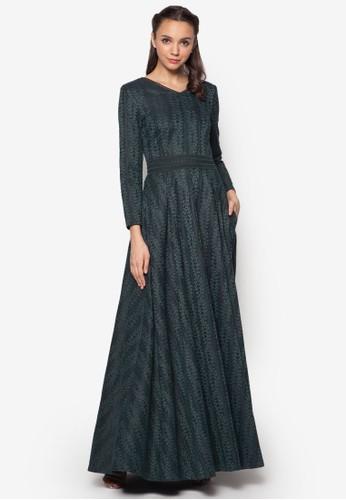 蕾esprit 台中絲修身喇叭長洋裝, 服飾, 洋裝