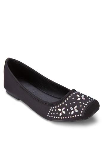 esprit台灣網頁閃飾方頭平底鞋, 女鞋, 鞋
