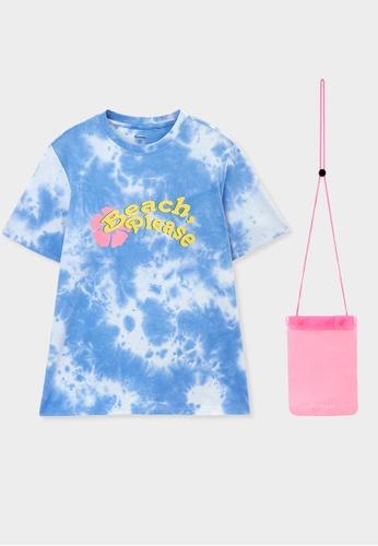 Pomelo blue Beach Please Tie Dye Tee - Light Blue 4F0B2AA41B6A07GS_1