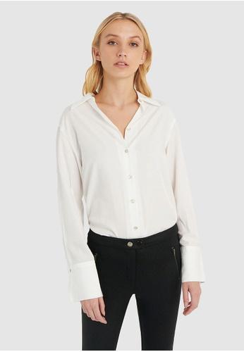 FORCAST white FORCAST Caia Oversized Shirt Blouse 0FF2FAAE5FD661GS_1