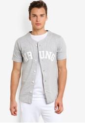 Wrung grey Hitman Shirt WR395AA76MPZMY_1