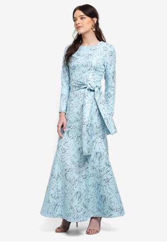 harga Jacquard Front Tie Mermaid Dress Zalora.co.id