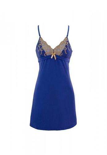 Neubodi blue and gold Juliette Inspired Slip NE503US81RXIMY_1