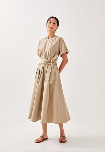 Love, Bonito 褐色 Ezri Sash Midi Dress 8D135AACB898BDGS_1