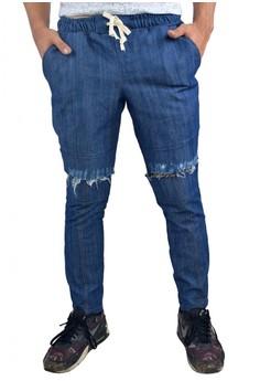 Men's Skinny Knee Ripped Pants