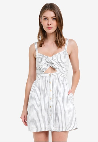 Abercrombie & Fitch white Bare Knot Front Button Thru Dress CAFEDAACAD8ECAGS_1